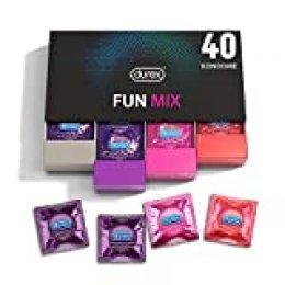 Durex Assortiment de Préservatifs Fun Explosion - Boîte élégante - 40 Pièces