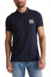 Esprit 040ee2k317 Camisa de Polo, 400/Navy, S para Hombre