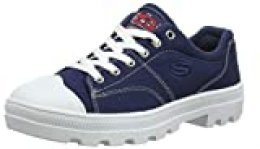Skechers Roadies-True Roots, Zapatillas para Mujer , Azul ( Navy Canvas White Leather Trim Nvy ) , 2 EU