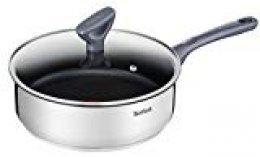 Tefal Daily Cook - Guisera de 24 cm, antiadherente de acero inoxidable, para todo tipo de cocinas incluido inducción