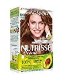 Garnier Nutrisse Creme Coloración permanente con mascarilla nutritiva de cuatro aceites - Marrón Intenso 6.41