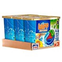 Wipp Express Detergente Antiolores en Cápsulas 50 Discos - Pack de 3, Total: 150D