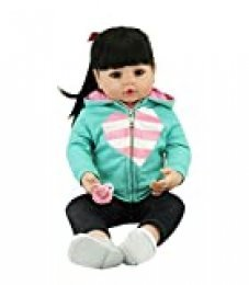 "iCradle Realista Reborn Baby Doll Niña 24 Pulgadas 61cm Hermosa Muñeca Silicona Lifelike Bebe Reborn Toddler Recien Nacido (18""/45cm)"