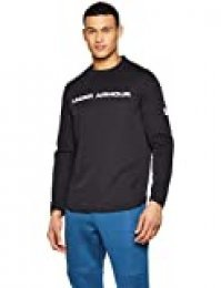 Under Armour Move Light Graphic Crew Parte Superior del Calentamiento, Hombre, Negro (Black/White 003), L