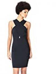 Marca Amazon - find. Vestido Midi Cuello Halter Mujer