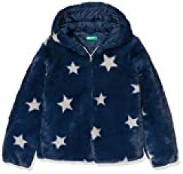 United Colors of Benetton Street G4 Abrigo, Azul (BLU Scuro All/Over 60c), 90 (Talla del Fabricante: 1Y) para Niñas