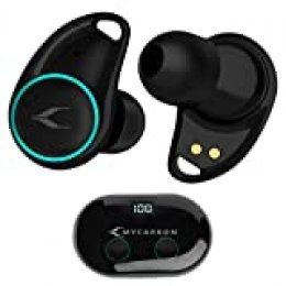 MYCARBON Auriculares Inalámbricos con Pantalla LED Digital I7 Plus Auriculares Bluetooth 5.0 Sonido EstéreoAudífonos Invisibles con Tecnología de Eliminación de Ruido Dual con Caja de Carga