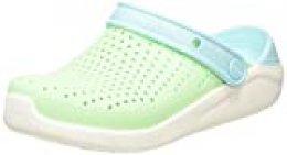 Crocs Literide Clog Kids, Zuecos Unisex Niños, Verde (Neo Mint/White 3TM), 28/29 EU