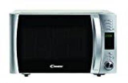 Candy CMXG22DS Microondas con Grill y Cook In App, 40 programas automáticos, plato giratorio 24.5 cm, 800 W-1000 W, 22 litros, silver
