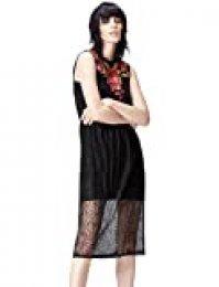 Marca Amazon - find. Vestido Midi de Encaje Mujer