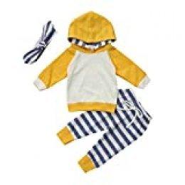 Kfnire Bebé Niñas Invierno Otoño Rosa y Leopard Edge Sudaderas con Capucha y Pantalones