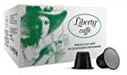 Liberty Caffè - Cápsulas 100 % arábica compatibles con Nespresso (100 x 5,5 g)