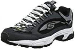 Skechers Stamina-Cutback, Zapatilla Deportiva con Cordones para Hombre