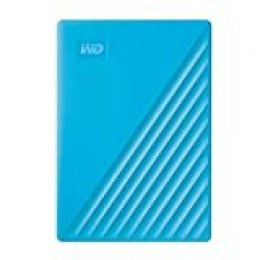 WD 4TB My Passport disco duro portátil, Software de copia de seguridad automática y protección con contraseña, Color Azul, Compatible con PC, Xbox One y PS4