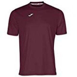 Joma Combi Camisetas Equip. M/C, Hombre, Burdeos, S