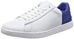 Lacoste Carnaby EVO 419 2 SFA, Zapatillas para Mujer, Blanco (White/Blue 080), 39 EU