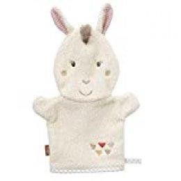 Fehn 058215 Lama - Manopla de baño para bebés y niños a partir de 0 meses, diseño de animales, color beige