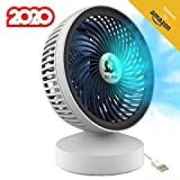 KLIM™ Breeze - Ventilador USB de Escritorio de Alto Desempeño – Ventilador de Mesa – Silencioso y Ajustable - Blanco [Nueva Versión 2020 ]