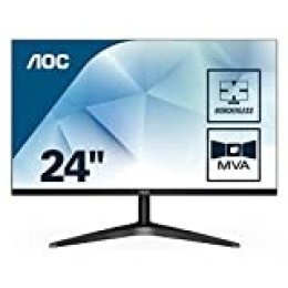 "AOC 24B1H - Monitor de 24"" FHD (MVA, HDMI, Sin Bordes, Fino, Flicker Free y Low Blue Light) negro"