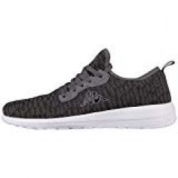 Kappa Gizeh, Zapatillas Unisex Adulto, Negro (Black/Grey 1116), 39 EU