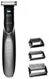 Cecotec Recortador de barba Bamba PrecisionCare 7500 Power Blade Resistente al agua, 3 peines guía, batería recargable, hasta 60 minutos autonomía,cuchillas acero inoxidable (7500 Power Blade)