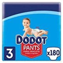 Dodot Pants Pañal - Braguita Talla 3, 180 Pañales, 6k g - 11 kg, Pañal - Braguita con Ajuste 360° Anti - fugas, 8001841898384
