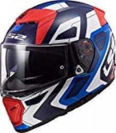 LS2 Casco de moto FF390 BREAKER ANDROID Azul Rojo, Azul/Blanco/Rojo, S