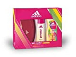 Adidas Get Ready Set para Mujer, Contiene: Neceser Adidas + Get Ready! Eau de Toilette 50 ml + Get Ready! Body Hair Face 3 in 1 Shower Gel 250 ml