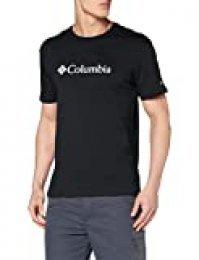 Columbia CSC Basic Camiseta de Manga Corta, Hombre, Negro, M
