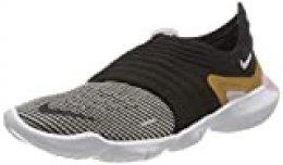 Nike Wmns Free RN Flyknit 3.0, Zapatillas para Correr para Mujer, Black Mtlc Gold Plum Chalk, 40 EU