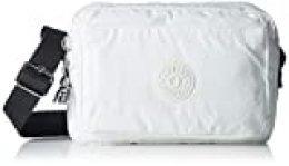 KiplingAbanu MMujerBolsos bandoleraBlanco (White Metallic)24x17x9 Centimeters (B x H x T)