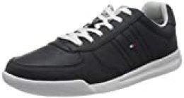 Tommy Hilfiger Lightweight Leather Sneaker, Zapatillas para Hombre, Azul (Desert Sky Dw5), 42 EU