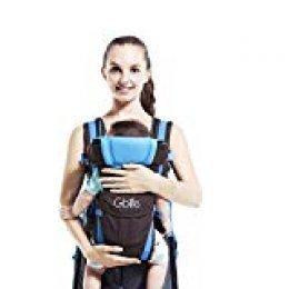 4 en 1 Multifunción Mochila Portabebé Ergonómica Portador de Bebé Transpirable Adjustable Portabebés Marsupi Fular para bebé Recien Nacido, Azul