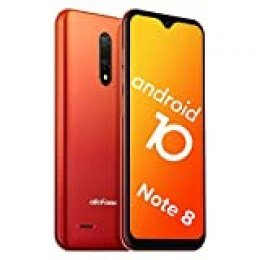 "Teléfono Móvil Libre, Ulefone Note 8 Android 10 3G Smartphone Libre, 2GB RAM 16GB ROM Smartphone, Pantalla 5.5"" Water-Drop Screen Movil, 5MP + 2MP + 2MP, Dual SIM, Face ID, GPS, Bluetooth (Naranja)"
