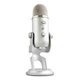 Blue Microphones Micrófono USB Yeti para grabación y transmisión en PC y Mac, transmisión de juegos, llamadas de Skype, transmisión de Youtube, Plug and Play, Plata