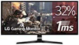 "LG 29UM69G-B - Monitor Gaming UltraWide WFHD de 73.7 cm (29"") con Panel IPS (2560 x 1080 píxeles, 21:9, 1 ms con MBR, 75Hz, FreeSync, 250 cd/m², 1000:1, sRGB >99%, DPx1, HDMIx1, USB-Cx1) Color Negro"