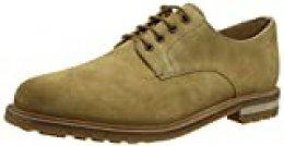 Clarks Foxwell Hall, Zapatos de Cordones Derby, Beige (Dark Sand Suede Dark Sand Suede), 44.5 EU