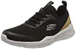 Skechers Equalizer 4.0, Zapatillas para Hombre, Ribete sintético Negro de Malla Negra, 46 EU