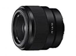 Sony SEL50F18F.SYX Objetivo Fijo (FE 50 mm, F1.8), Negro, Lens Only