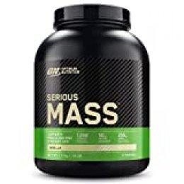 Optimum Nutrition ON Serious Mass Proteina en Polvo Mass Gainer Alto en Proteína, con Vitaminas, Creatina y Glutamina, Vainilla, 8 Porciones, 2.73kg, Embalaje Puede Variar