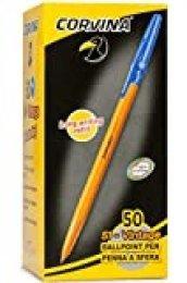 Corvina 51 Vintage - Caja con 50 bolígrafos, color azul