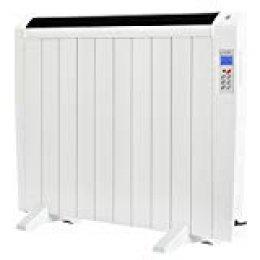 LODEL RA10 | Emisor Térmico Bajo Bajo Consumo | 1500W | 10 Elementos de Aluminio | 17 - 24m2 | Calentamiento Rápido | Programable | Mando a Distancia | 3 Modos | Incluye patas y soporte para pared.