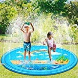 Sooair Juego de Salpicaduras y Salpicaduras, 170 cm Water Spray de Agua Espolvoree y coloque la Alfombra de Juego, Aspersor de Juego para Actividades Familiares Aire Libre /Jardín/Playa