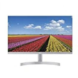 "LG 24MK600M-W - Monitor FHD de 60,4 cm (23,8"") con Panel IPS (1920 x 1080 píxeles, 16:9, 250 cd/m², NTSC >72%, 1000:1, 5 ms, 75 Hz) Color Blanco"