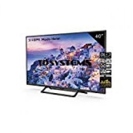 Televisor Led 40 Pulgadas Full HD, TD Systems K40DLX9F. Resolución 1920 x 1080, 3X HDMI, VGA, USB Reproductor y Grabador.