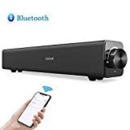 Barra de Sonido Bluetooth, Estink 20W Altavoz de Inalámbric Estéreo con Entrada AUX para PC, Laptop, Smartphones, Tablets, MP3 y TV(Negro)