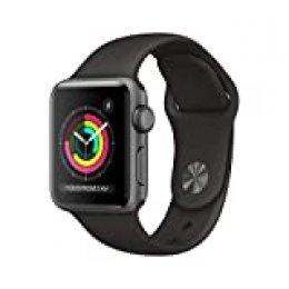 AppleWatchSeries3 (GPS) concaja de 38mm de aluminio engris espacial ycorrea deportiva, Negra