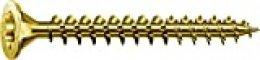 Spax 1190000000000 - Tornillo universal de 3,5 x 25 mm, 200 piezas, barranco, t-estrellas y además 4cut, rosca completa, amarillo de zinc pasivado a2l