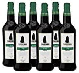 Sherry Jerez Sandeman Fino (D.O.Jerez-Xérès-Sherry) - 6 botellas de 750 ml - Total: 4500 ml