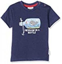 Salt & Pepper Mit Maritimen Druck Und Stickerei Camiseta, Azul (Navy 498), 62 para Bebés